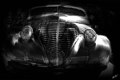 Photograph - Car Art 1939 In A Bubble Bw by Lesa Fine