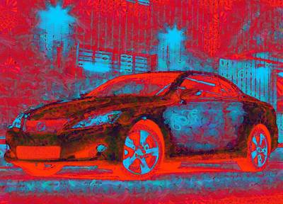 Digital Art - Car Art Vegged Out by Catherine Lott
