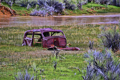 Colorful Button - Car Carcass by Allen Beatty