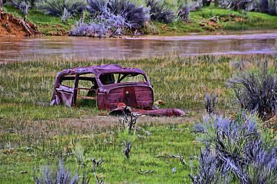 Photograph - Car Carcass by Allen Beatty