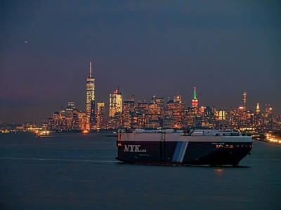 Photograph - Car Carrier by Steve Sahm