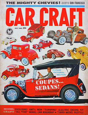 Photograph - Car Craft Mag July 1962 by David Lee Thompson
