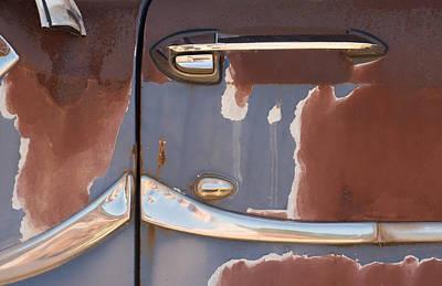 Automobile Photograph - Car Door Patina by Kevin Felts