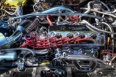 Photograph - Car - Engine - Car Intestines by Mike Savad