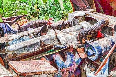 Sportscar Painting - Car Engine by Lanjee Chee
