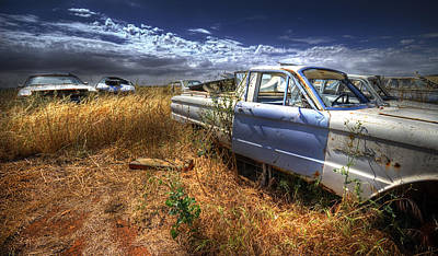 Photograph - Car Graveyard by Wayne Sherriff