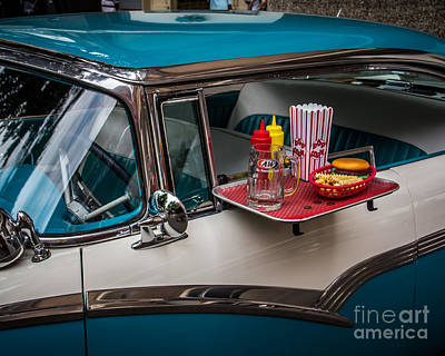 Dine Photograph - Car Hop by Perry Webster