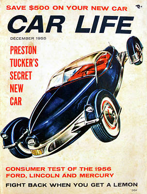 Photograph - Car Life December 1955 by David Lee Thompson
