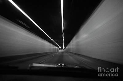 Photograph - Car Motion In Tunnel by Jim Corwin