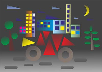 Car Night - My Www Vikinek-art.com Art Print