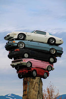 Photograph - Car Pile by Perggals - Stacey Turner