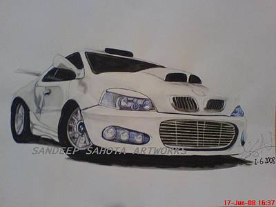 Alfred George Stevens Painting - car by Sandeep Kumar Sahota