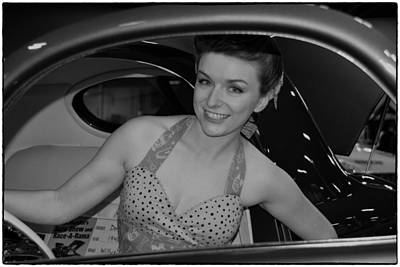 Photograph - Car Show Cutie by Mike Martin