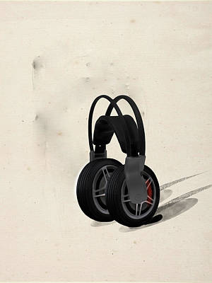 Car Stereo Art Print by Keshava Shukla