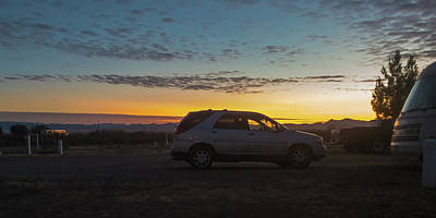 Photograph - Car Sunrise by Tatiana Travelways