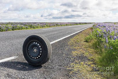 Photograph - Car Trouble In The Middle Of Nowhere Iceland by Edward Fielding