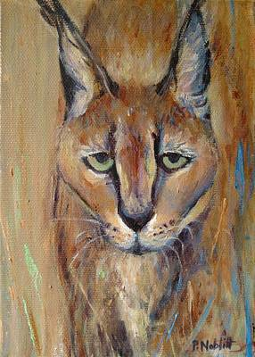 Wall Art - Painting - Caracal Cat by Paula Noblitt