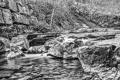 Photograph - Caradocs Falls 1 Mono by Steve Purnell