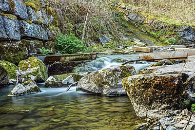 Photograph - Caradocs Falls 1 by Steve Purnell