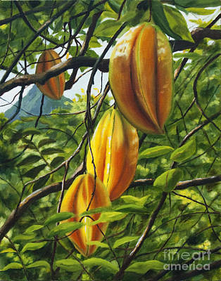 Oneal Painting - Carambola Glow by Pati O'Neal