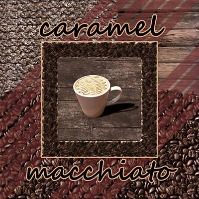 Earth Photograph - Caramel Macchiato - Coffee Art by Anastasiya Malakhova