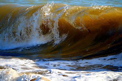 Undertow Photograph - Caramel Swirl by Dianne Cowen