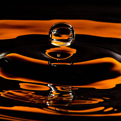 Photograph - Caramel Water Drop by SR Green