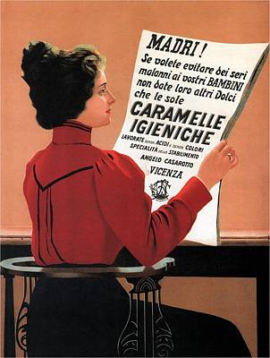Mixed Media - Caramelle Igieniche - Vicenza, Italy - Vintage Advertising Poster by Studio Grafiikka