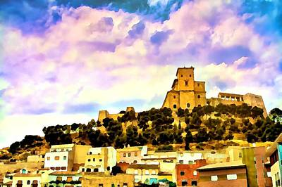 Digital Art - Caravaca Castel - Spain by Tatiana Travelways