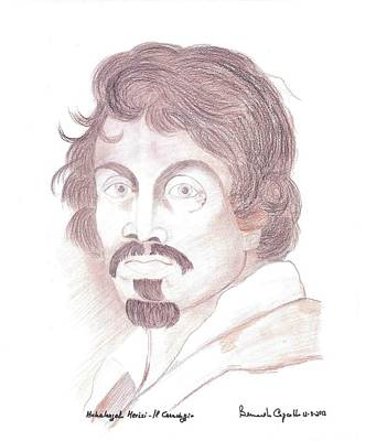 Caravaggio Self Portrait Original by Bernardo Capicotto