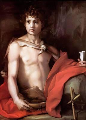 Caravaggio Painting - Caravaggio by John the Baptist