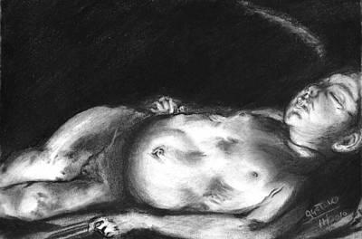 Caravaggio's Sleeping Cupid Print by Gustavo Ramirez