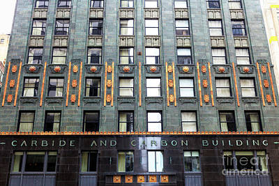 Photograph - Carbide And Carbon Building Details by John Rizzuto