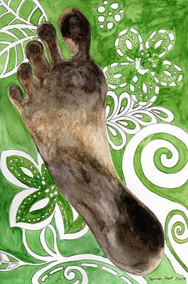 Footprints Painting - Carbon Footprint by Caprice Scott