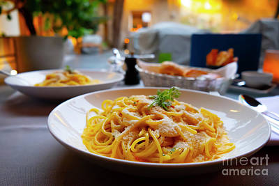 Photograph - Carbonara Spaghetti by Mats Silvan