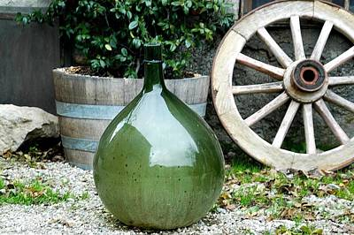 Carboy In Italy Art Print by Amie Turrill Owens
