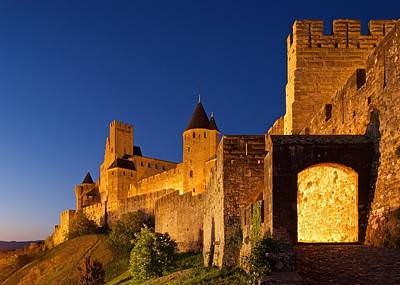 Photograph - Carcassonne At Night by Stephen Taylor