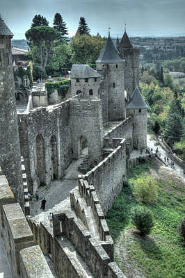 Photograph - Carcassonne Fortifications by Alan Toepfer