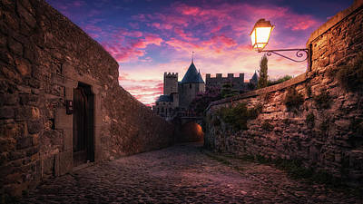 Photograph - Carcassonne II 16x9 by Ander Alegria