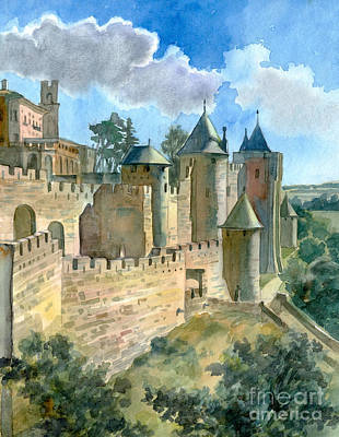 Carcassonne Art Print by Katia Weyher