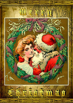Photograph - Card Christmas Santa by Robert G Kernodle