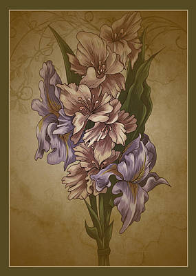 Digital Art - Card Floral Anyttime by Robert G Kernodle