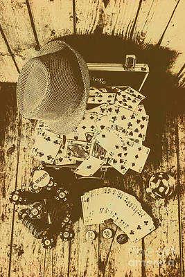 Card Games And Vintage Bets Art Print