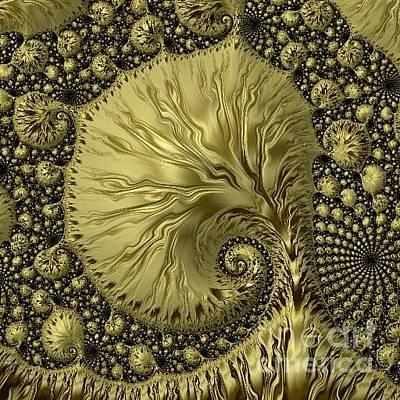 Digital Art - Card / Golden Frenzy Frax Head  by Elizabeth McTaggart