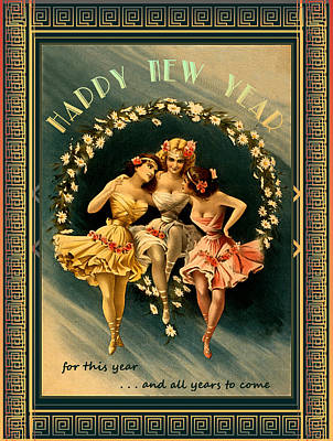 Photograph - Card Happy New Year by Robert G Kernodle