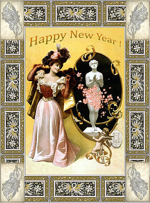 Photograph - Card New Year Wishes by Robert G Kernodle