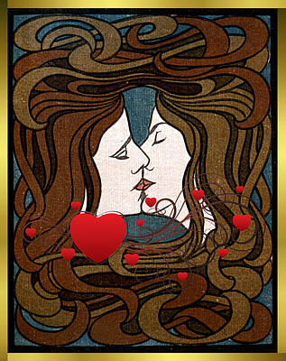 Photograph - Card Sapphic Valentine by Robert G Kernodle