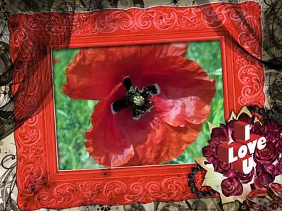 Photograph - Card Valentine by Vesna Martinjak
