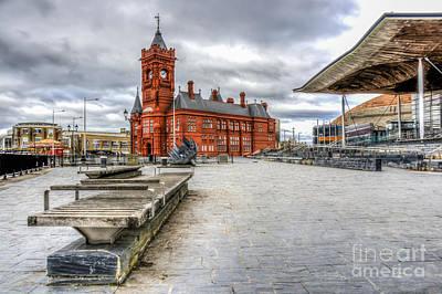 Photograph - Cardiff Bay Pierhead Building by Steve Purnell