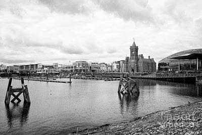 Cardiff Bay Waterfront On An Overcast Day Wales United Kingdom Art Print by Joe Fox